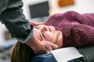 neck adjustment by chiropractor